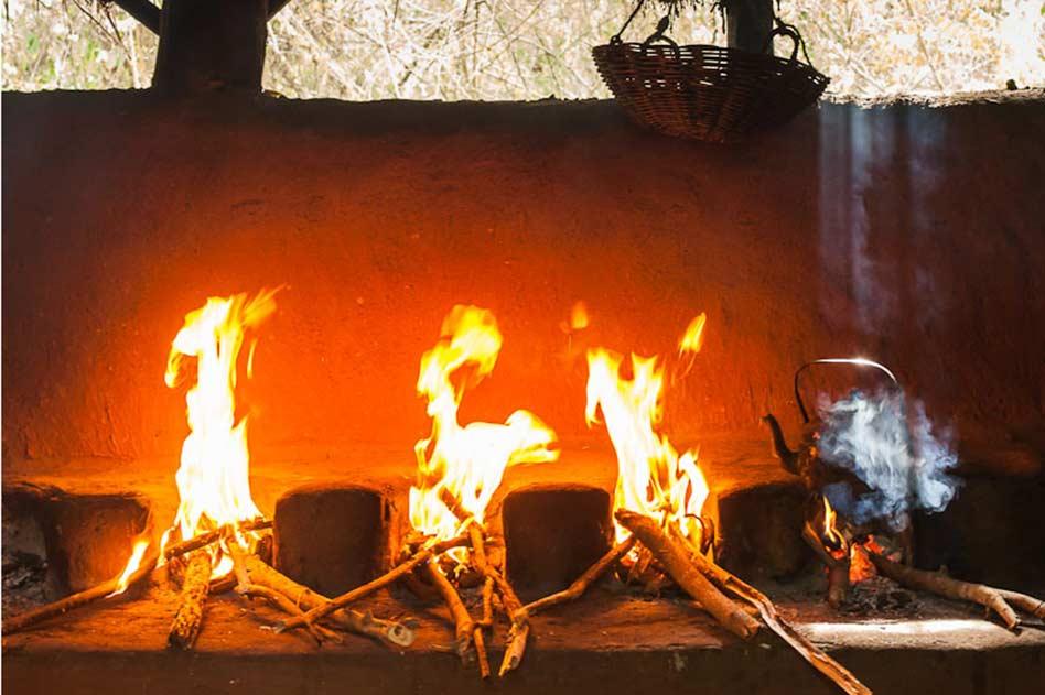 Kochen auf dem Feuer